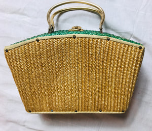 Vintage straw box bag