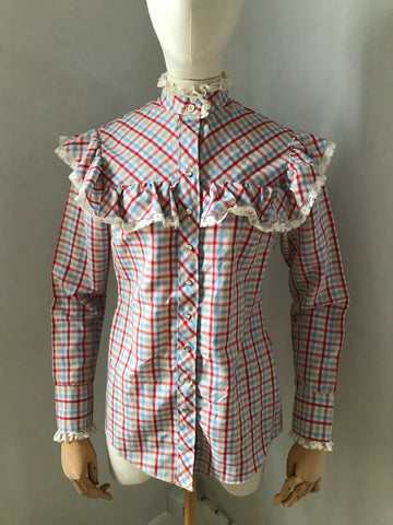 Vintage 70s check blouse