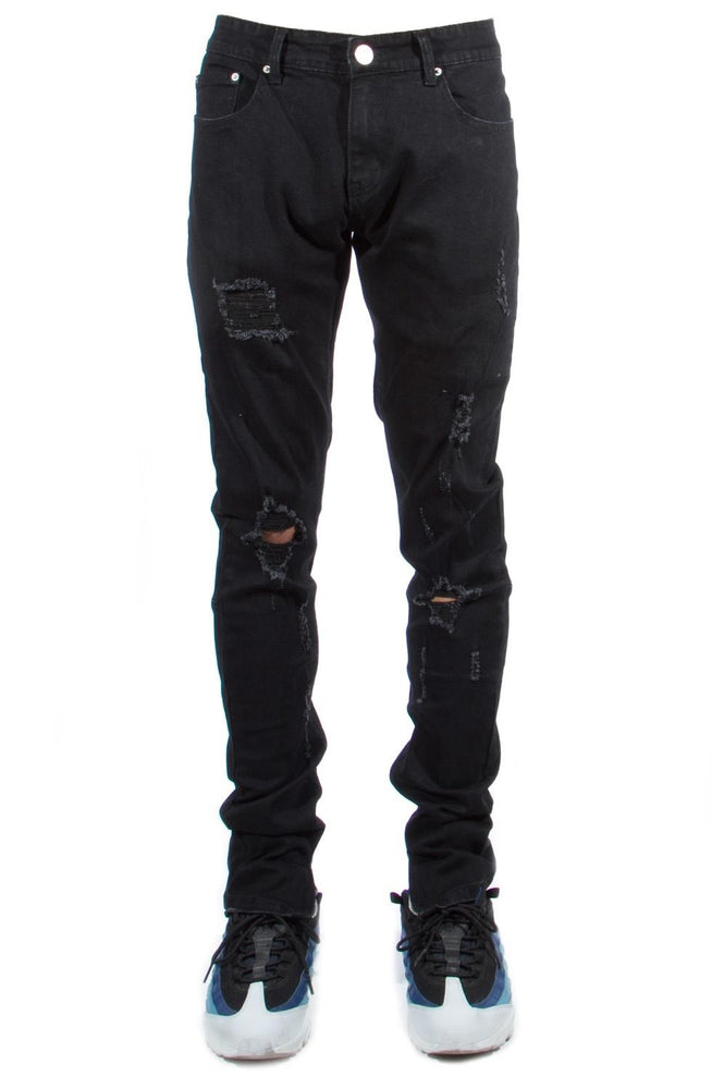 Cooper 9 501 Ankle Zipper Jeans (Black)