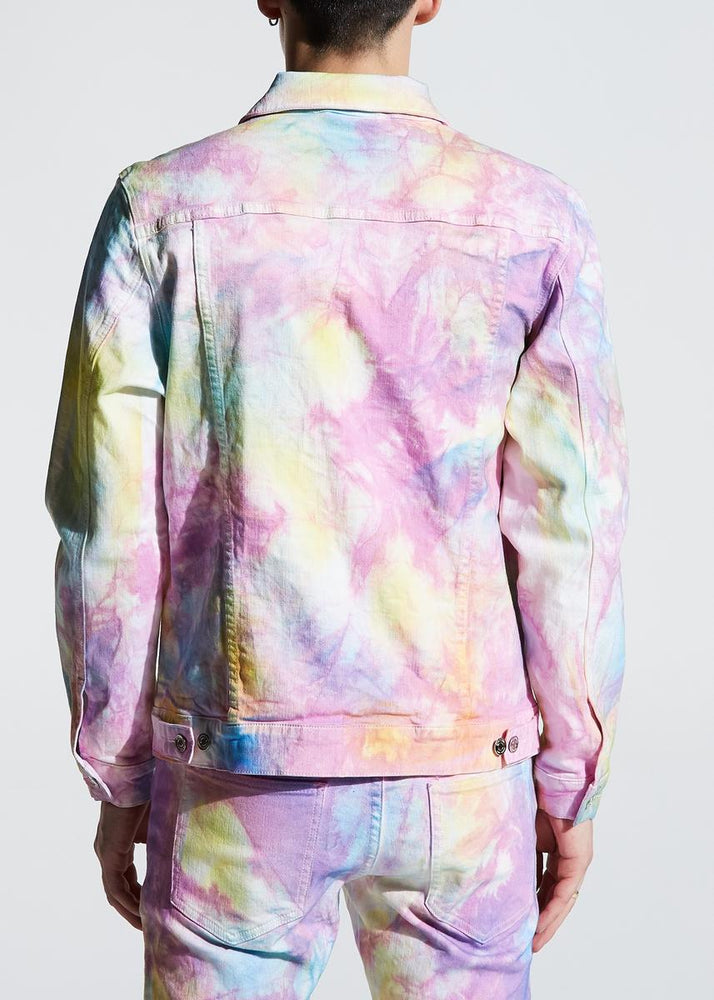 Crysp Bering Denim Jacket (Light Indigo Tiedye)
