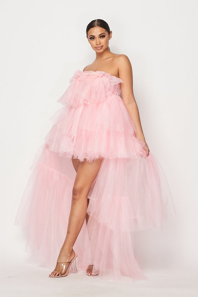 Hot & Delicious Princess Tulle Dress (Pink)
