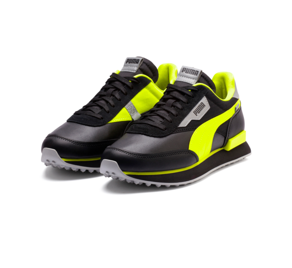 PUMA Future Rider Risk Alert (PUMA BLACK-SAFETY YELLOW) 373172 02