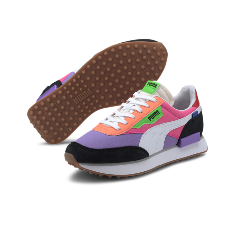 PUMA  Rider Play On WN¿S (LUMINOUS PURPLE-FLUO PINK) 373792 03
