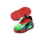 PUMA RS-X3 Tailored Infant (FLUO GREEN-PUMA BLACK-DAZZLING BLUE) 373718 01