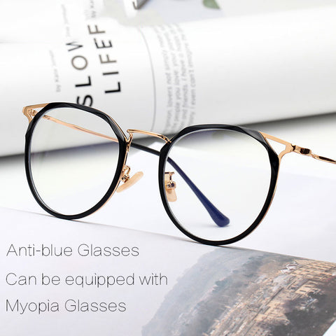 Stylish Blue Light Blocking Glasses with Geometric frame Design
