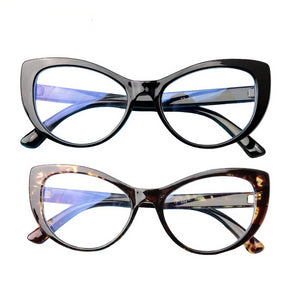 Ladies Cat's Eye Style Computer/Screen Glasses with Blue Light Blocking Protection