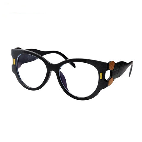 Chunky Look Fashion Frame Computer Glasses with Blue Light Blocking Lenses