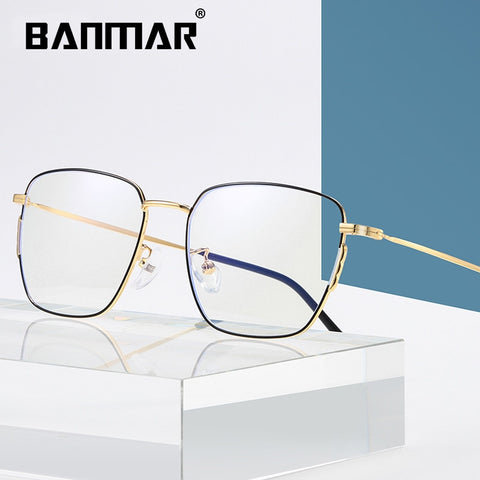 Thin Metal framed Stylish Mens computer glasses, Blue Light Blocking
