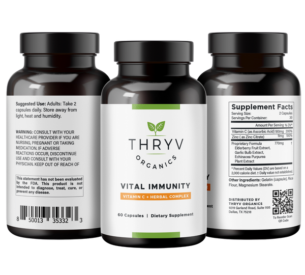Thryv Organics Vital Immunity Vitamin C Supplement and Immune Support for complete wellness