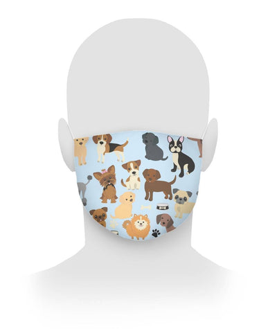 All Over Print Puppy Love Cloth Face Mask Customfam USAJewelry