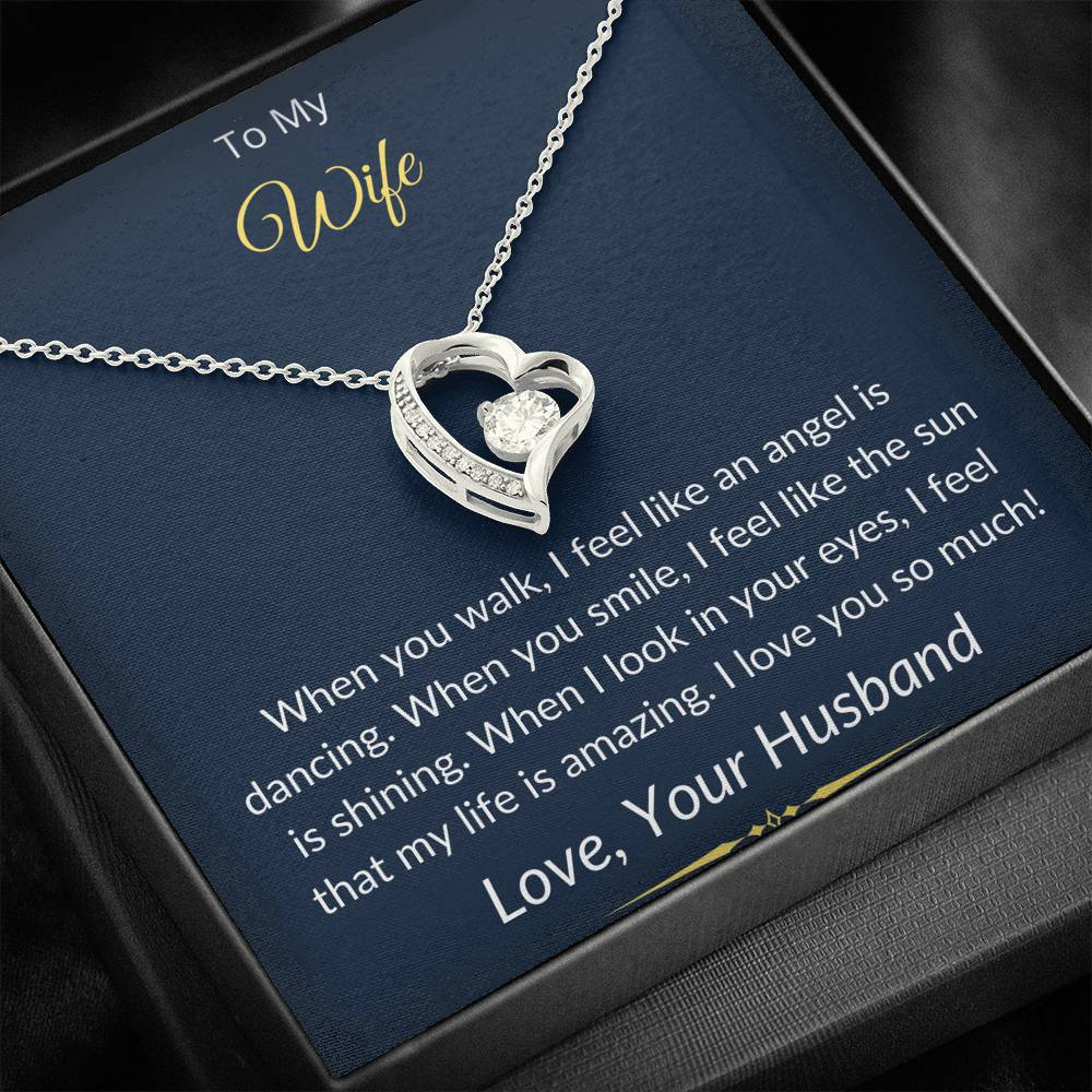 To My Wife Forever Love Necklace Giftset
