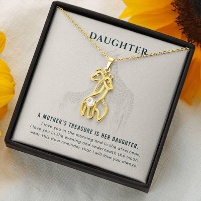 To My Daughter Love Giraffe Necklace