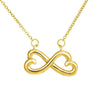 Jewelry 18k Everlasting Yellow Gold Plated To My Mother Infinity Heart Necklace Customfam USAJewelry