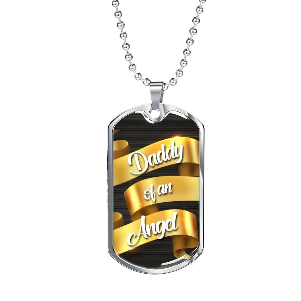 Jewelry Daddy Of An Angel - Luxury Dog Tag Customfam USAJewelry
