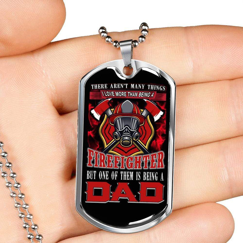 Jewelry Firefighter Dad Customfam USAJewelry