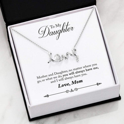 Jewelry Scripted Love (Limited) To My Daughter Scripted Love Necklace Customfam USAJewelry