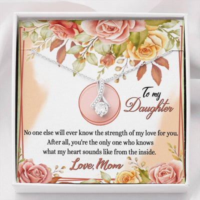 Jewelry To My Daughter Alluring Beauty Necklace Customfam USAJewelry