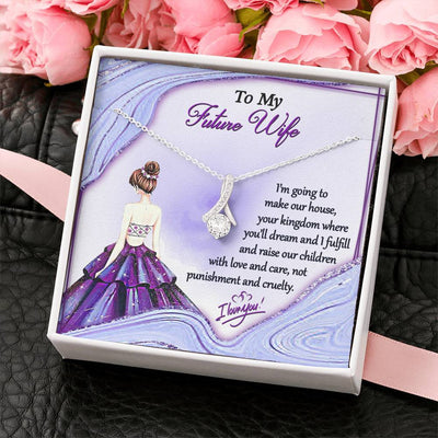 Jewelry To My Future Wife Alluring Beauty Necklace Customfam USAJewelry