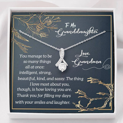 Jewelry To My Granddaughter Alluring Beauty Necklace Customfam USAJewelry