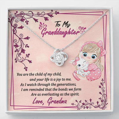 Jewelry To My Granddaughter Love Knot Necklace Customfam USAJewelry