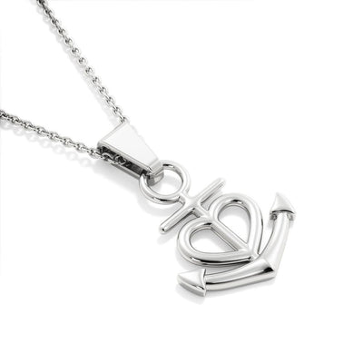 Jewelry To My Mother Anchor Heart Necklace Customfam USAJewelry