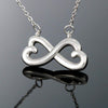 Jewelry To My Mother Infinity Heart Necklace Customfam USAJewelry