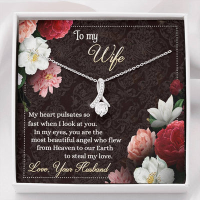 Jewelry To My Wife Alluring Beauty Necklace Customfam USAJewelry