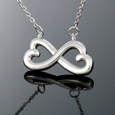 Jewelry To My Wife Infinity Heart Necklace Customfam USAJewelry