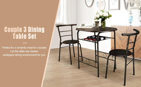 Save $30 On Couple Dining Chair Set with Storage
