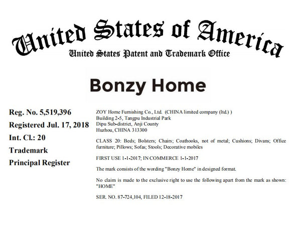 bonzy home brand trademark bonzyhome.com recliner chairs