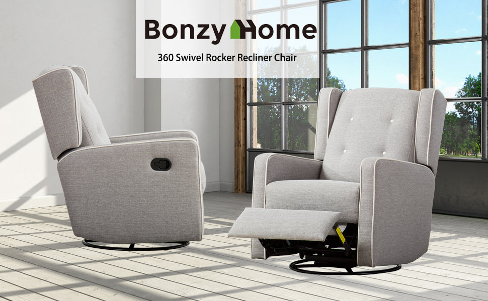 Manual Swivel Rocker Recliner Chair