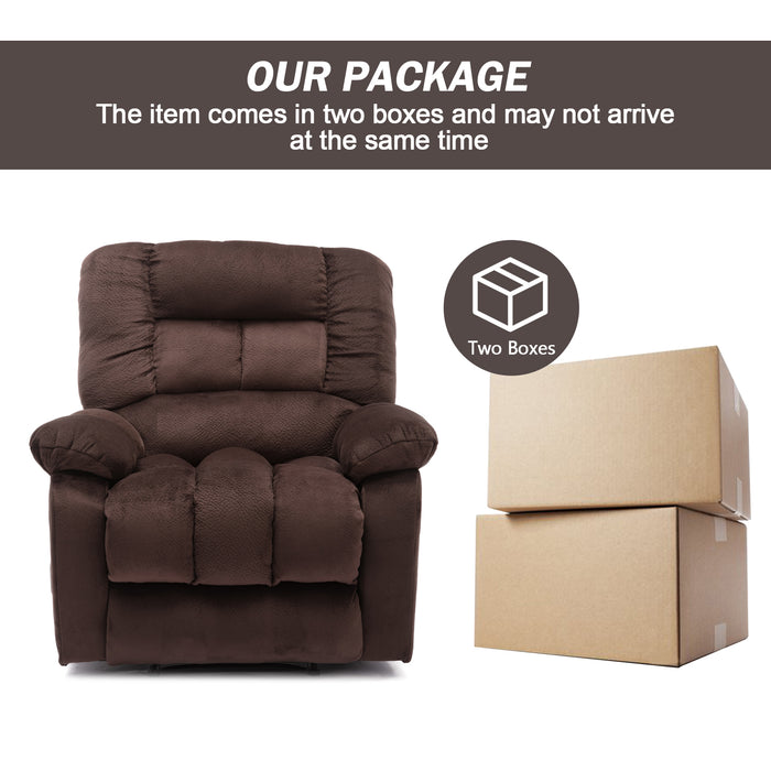 Air Leather Recliner Chair Chocolate - 9878