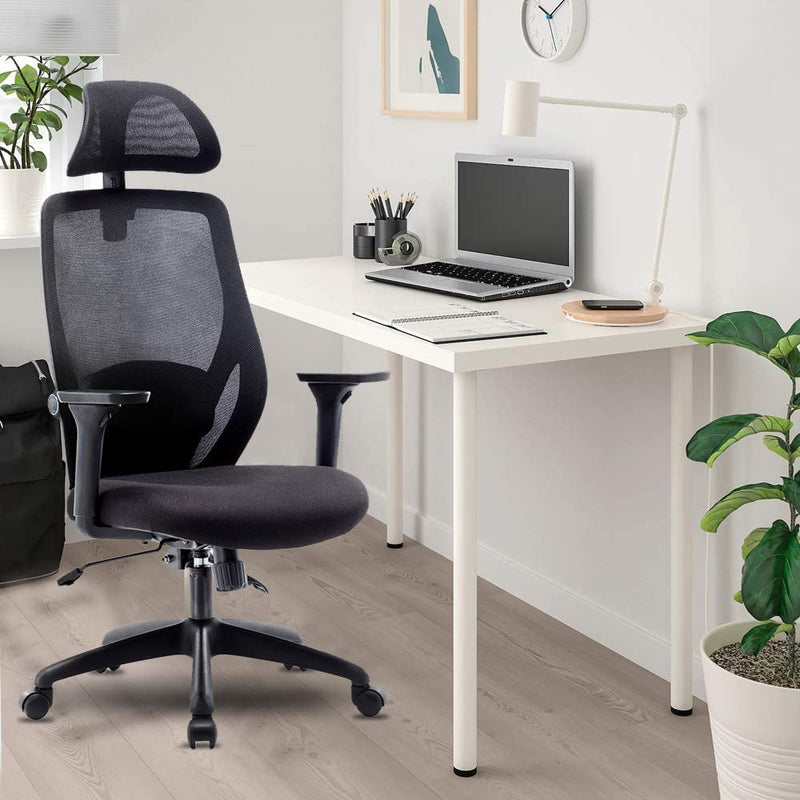 White Office Mesh Swivel Chair Executive Computer Desk Ergonomic High-Back Task
