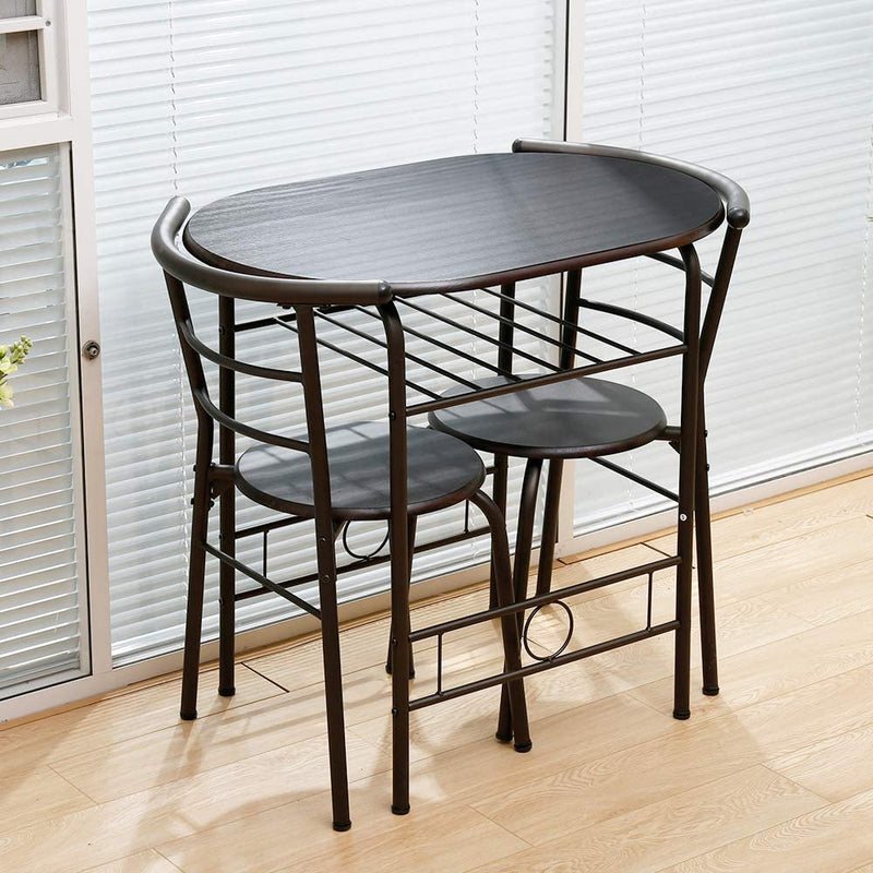 Bonzy Home Simple style couple dining table set, not taking up space