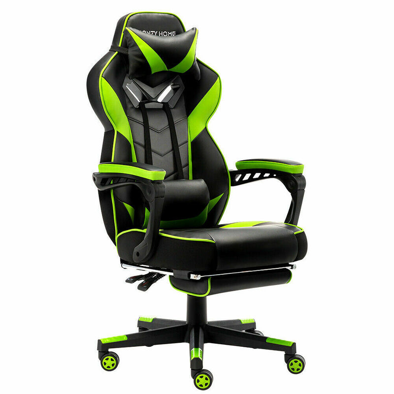 High Back Ergonomic PC & Racing Game Chair with Footres