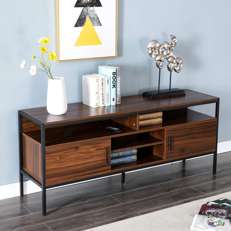 Bonzy Home wood and metal TV cabinet