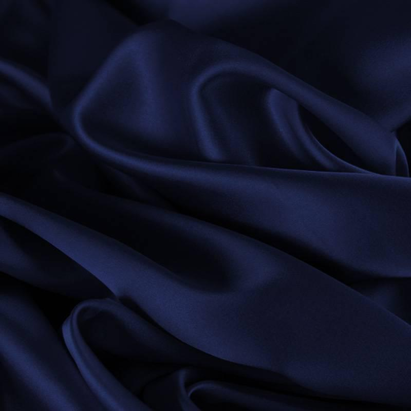 CROISSANT SATIN HEADBAND - BLUE NAVY