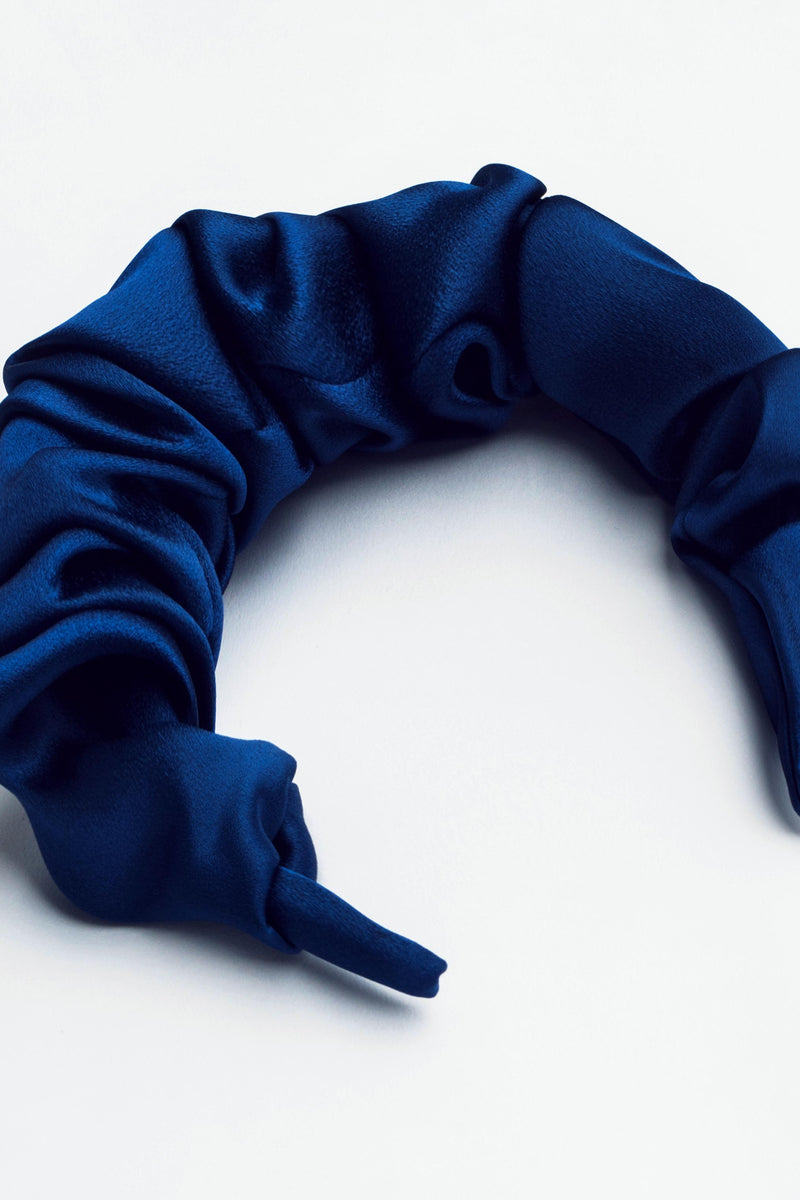 SATIN CURLY COLLECTION - BLUE NAVY