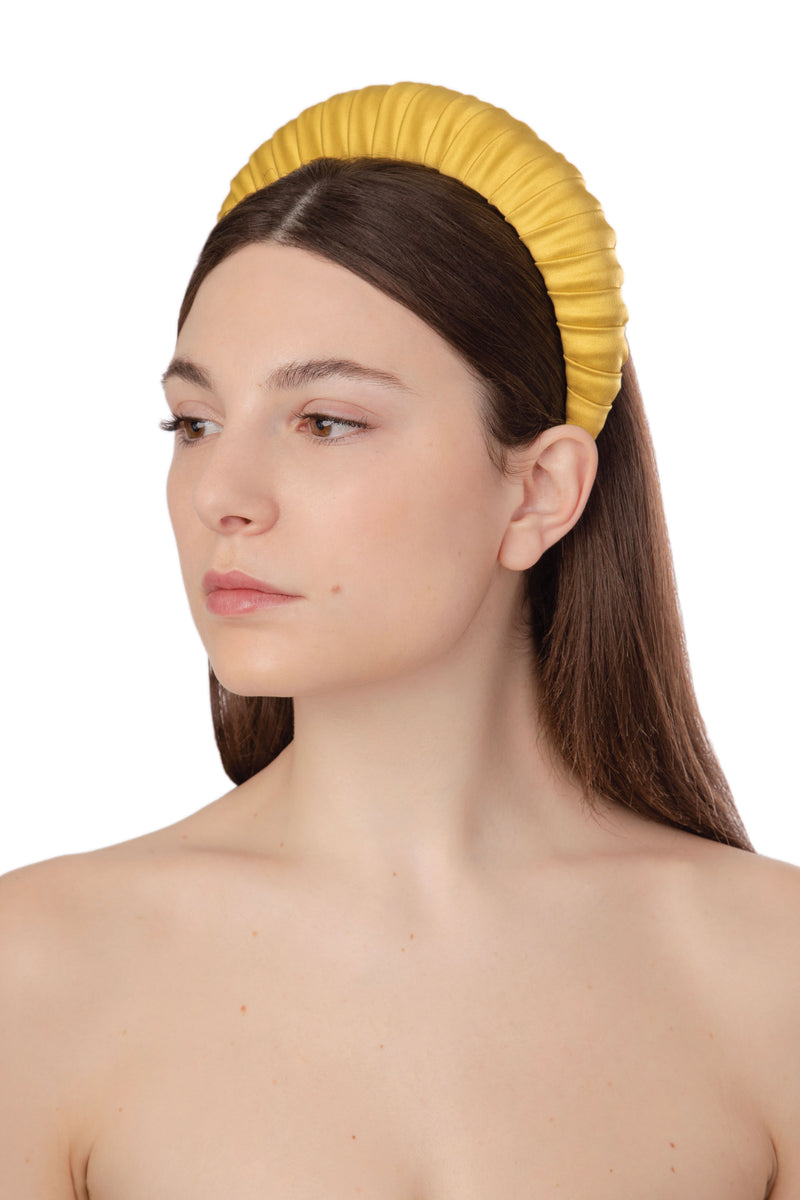 CROISSANT SATIN HEADBAND - YELLOW