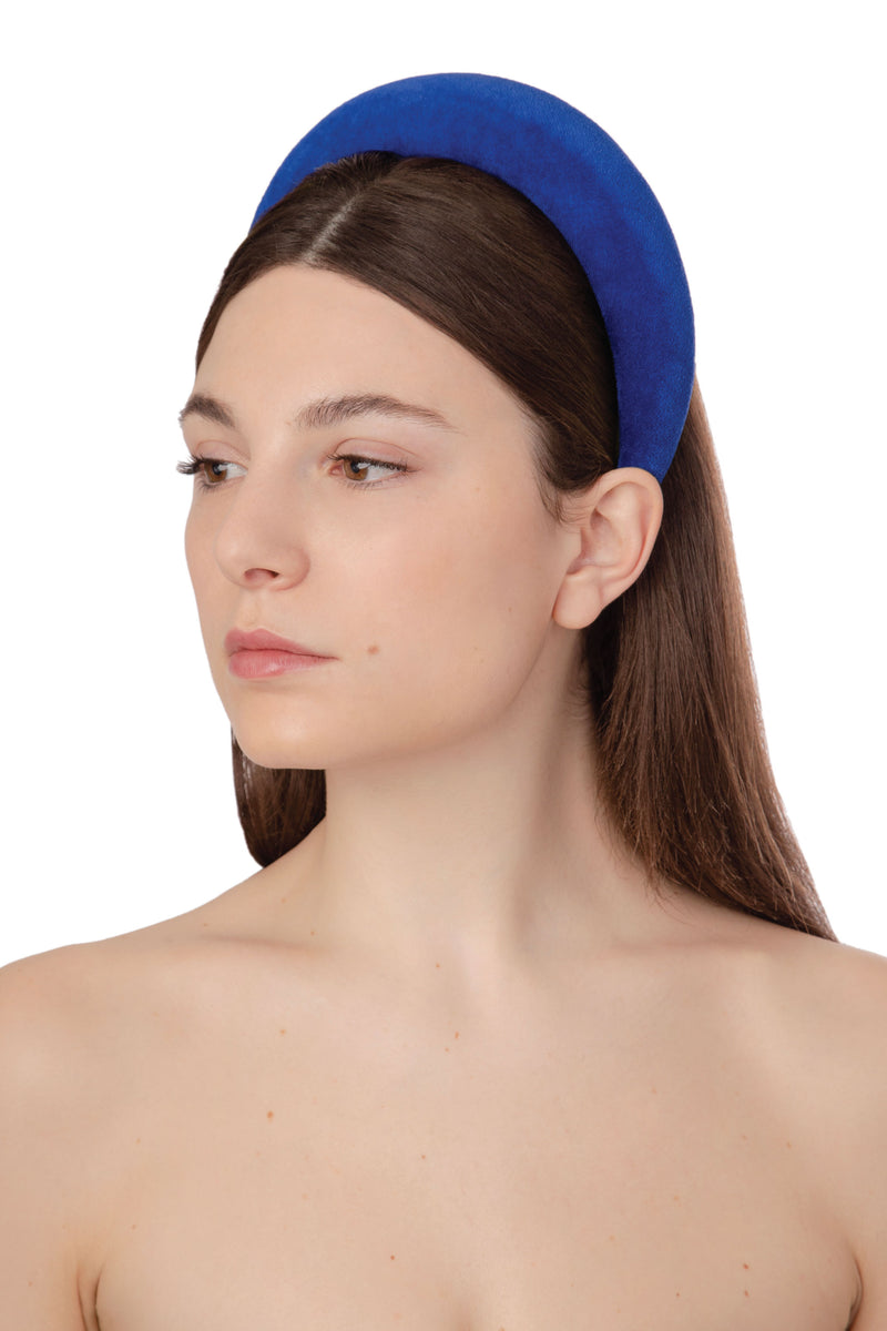 TECHNICOLOR VELVET HEADBAND - BLUE ROYAL