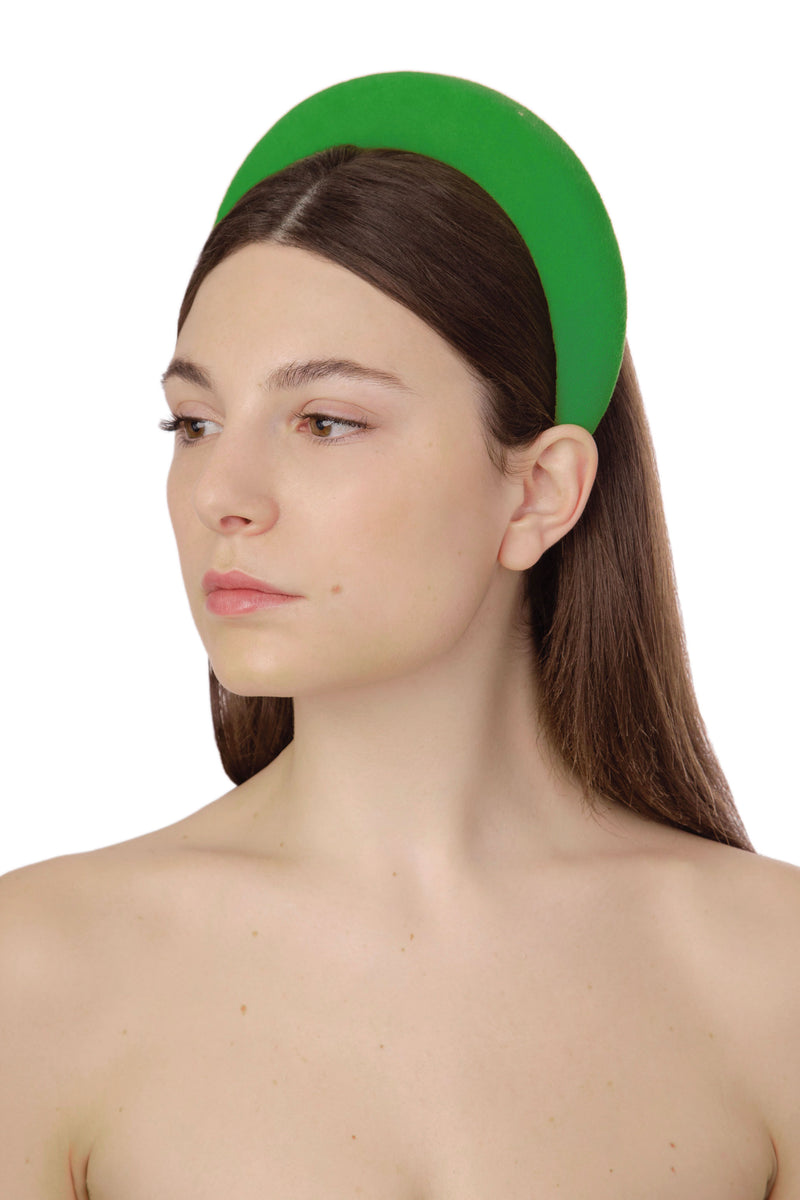TECHNICOLOR VELVET HEADBAND - DARK KIWI