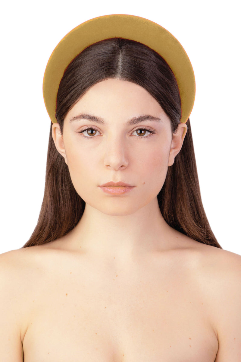 ACID POP VELVET HEADBAND - DARK YELLOW