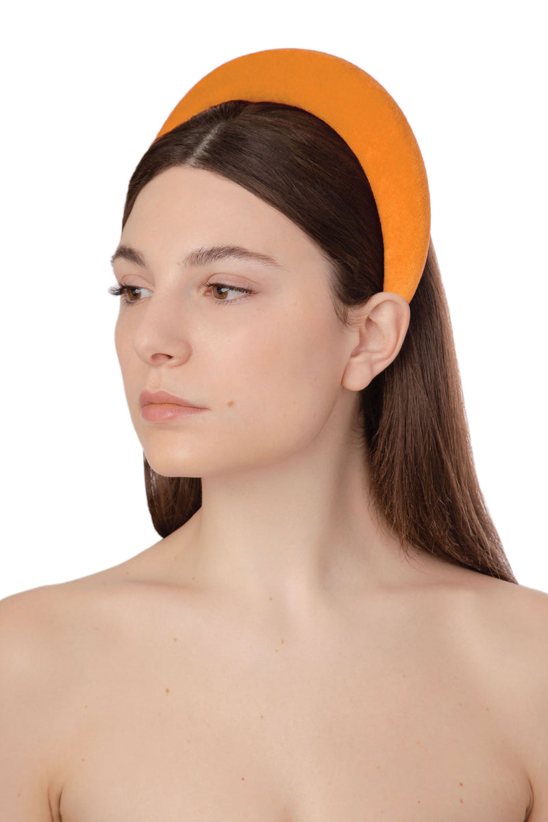 ACID POP VELVET HEADBAND - ORANGE