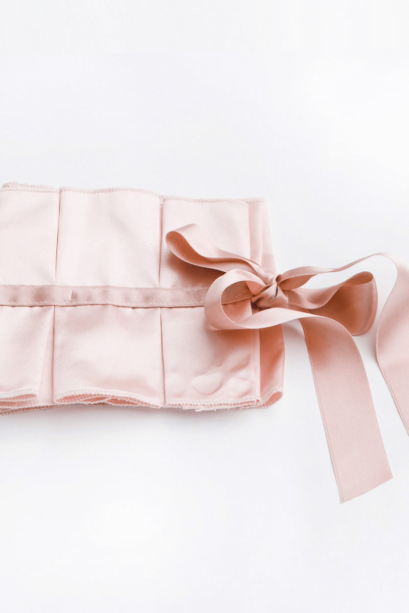 SATIN RUFFLE COLLAR - PINK