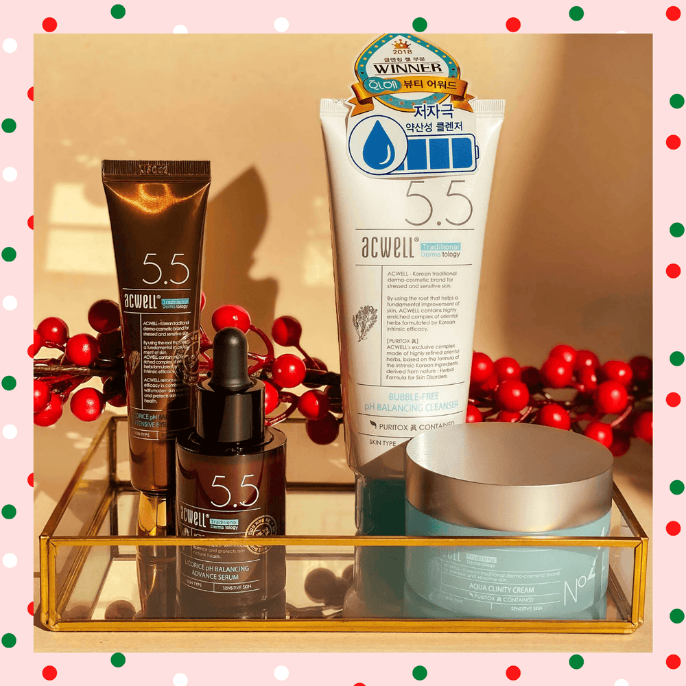 Be Gentle To My Skin Acwell Christmas Set - Macqueza