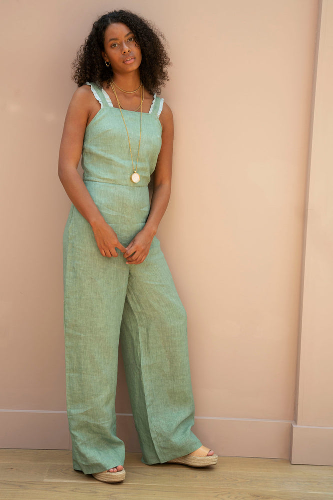 Green Sahanna Jumpsuit