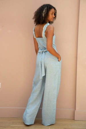 Load image into Gallery viewer, Blue Sahanna Jumpsuit