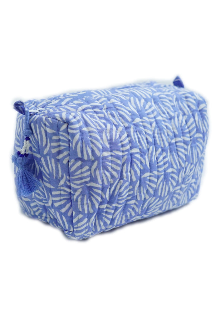 Blue Organic Cotton Washbag