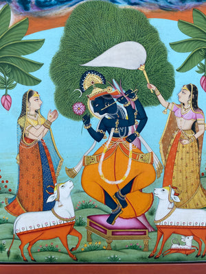 Load image into Gallery viewer, Painting of Lord Krishna Dancing