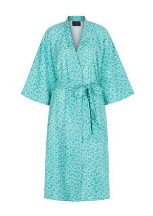 Organic Cotton Dressing Gown in Green